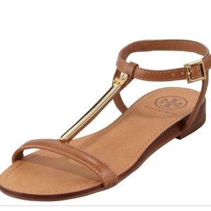 Tory Burch Pacey Gold Bar Sandals size 9